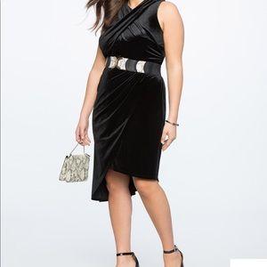 Sexy Eloquii Black Velvet  Dress - Sz 20 - NWT